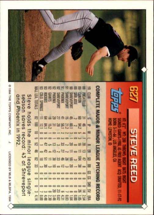 1994-Topps-Beisbol-Tarjeta-Recoger-461-792 miniatura 256