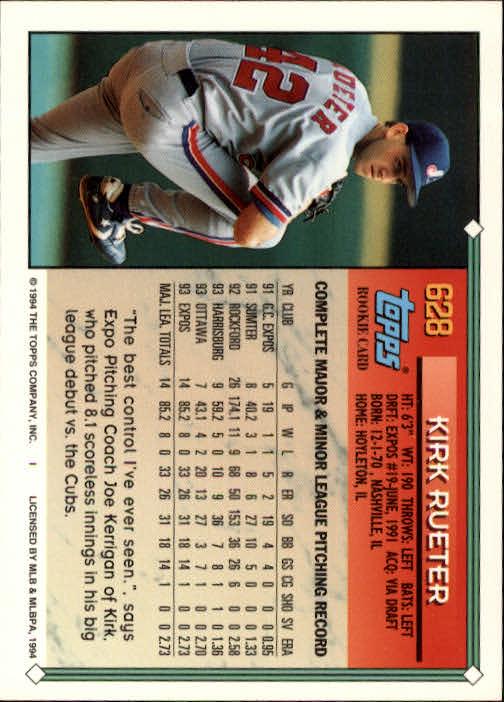 1994-Topps-Beisbol-Tarjeta-Recoger-461-792 miniatura 258