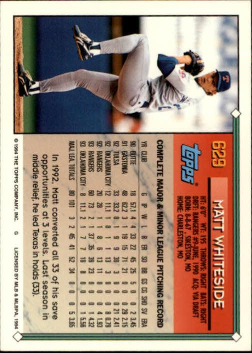 1994-Topps-Beisbol-Tarjeta-Recoger-461-792 miniatura 260