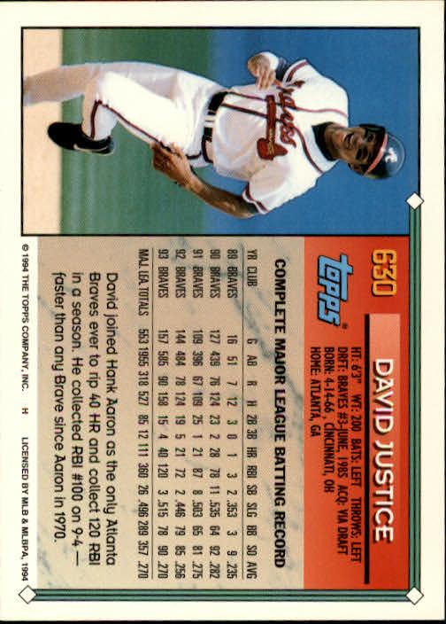 1994-Topps-Beisbol-Tarjeta-Recoger-461-792 miniatura 262