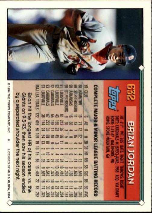 1994-Topps-Beisbol-Tarjeta-Recoger-461-792 miniatura 264