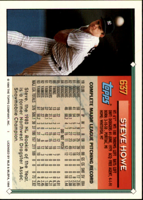 1994-Topps-Beisbol-Tarjeta-Recoger-461-792 miniatura 270