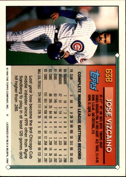 1994-Topps-Beisbol-Tarjeta-Recoger-461-792 miniatura 272