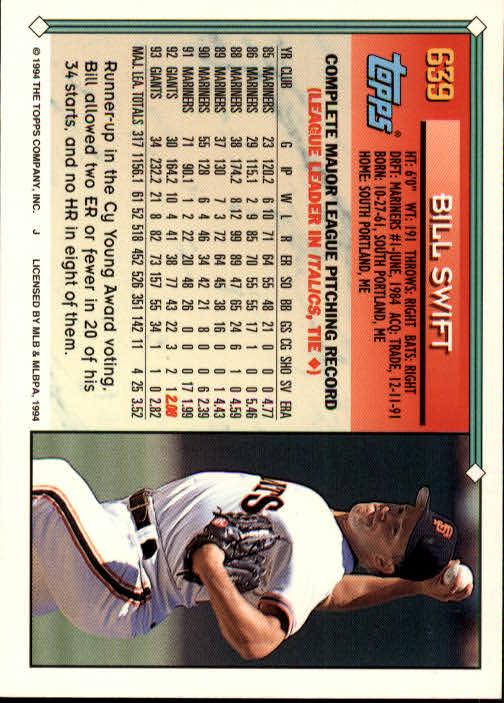 1994-Topps-Beisbol-Tarjeta-Recoger-461-792 miniatura 274