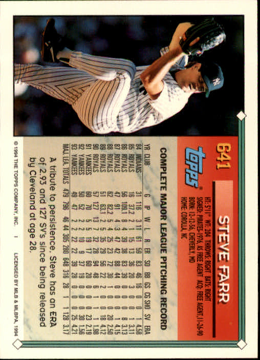 1994-Topps-Beisbol-Tarjeta-Recoger-461-792 miniatura 278