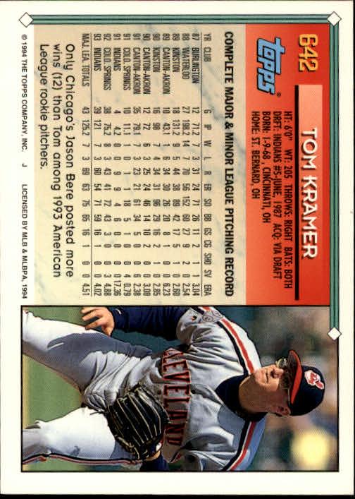 1994-Topps-Beisbol-Tarjeta-Recoger-461-792 miniatura 280