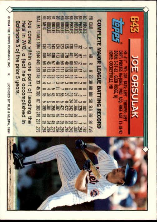 1994-Topps-Beisbol-Tarjeta-Recoger-461-792 miniatura 282