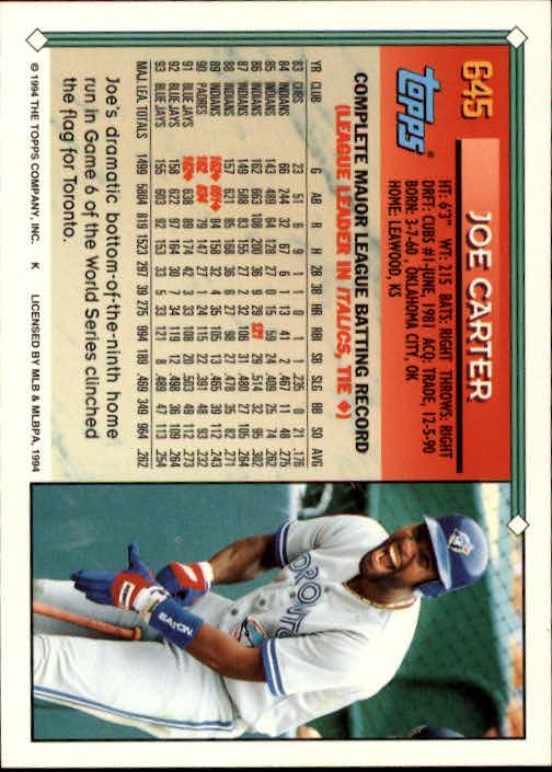 1994-Topps-Beisbol-Tarjeta-Recoger-461-792 miniatura 286