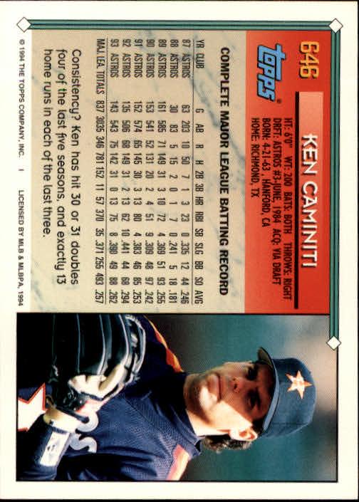 1994-Topps-Beisbol-Tarjeta-Recoger-461-792 miniatura 288
