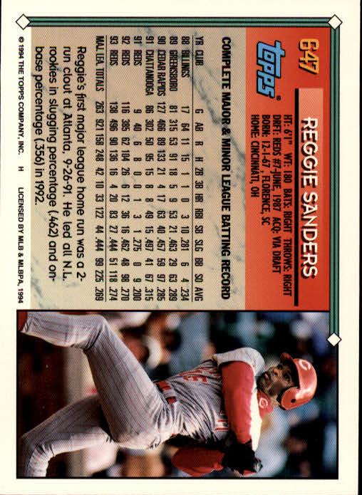 1994-Topps-Beisbol-Tarjeta-Recoger-461-792 miniatura 290
