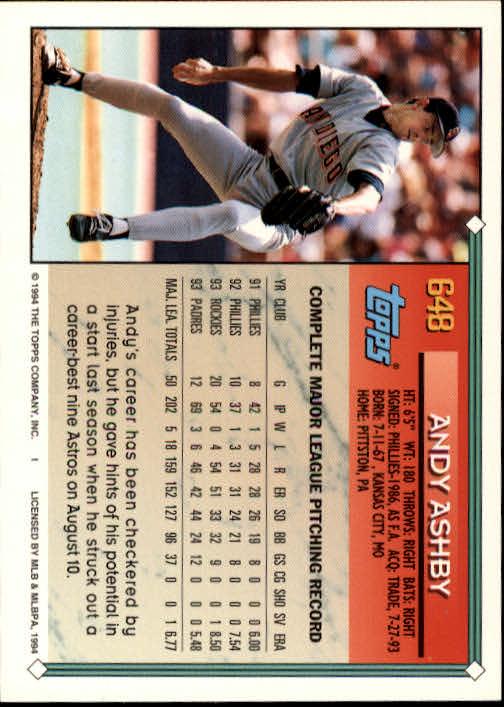1994-Topps-Beisbol-Tarjeta-Recoger-461-792 miniatura 292