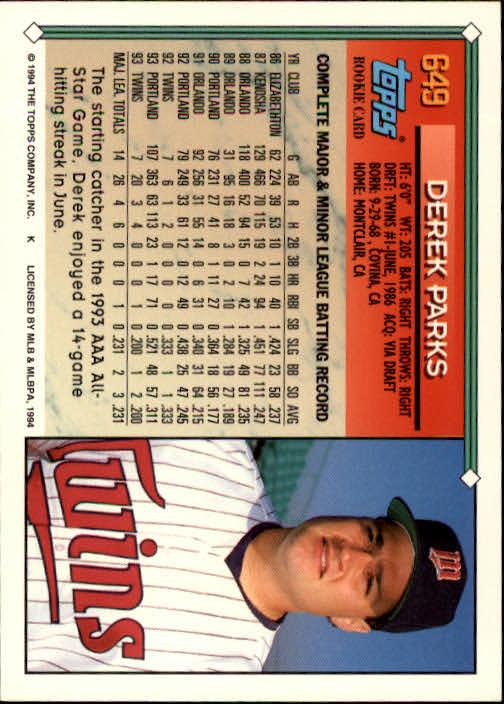 1994-Topps-Beisbol-Tarjeta-Recoger-461-792 miniatura 294