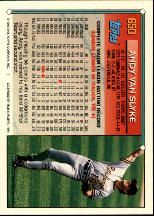 1994-Topps-Beisbol-Tarjeta-Recoger-461-792 miniatura 296