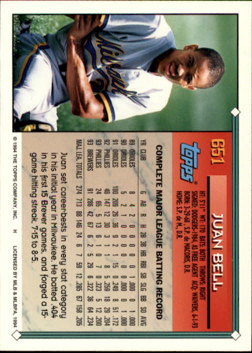 1994-Topps-Beisbol-Tarjeta-Recoger-461-792 miniatura 298