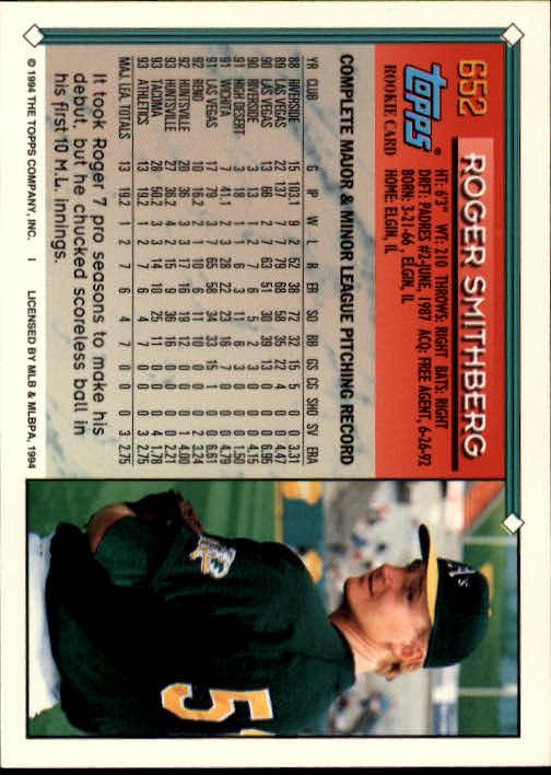 1994-Topps-Beisbol-Tarjeta-Recoger-461-792 miniatura 300