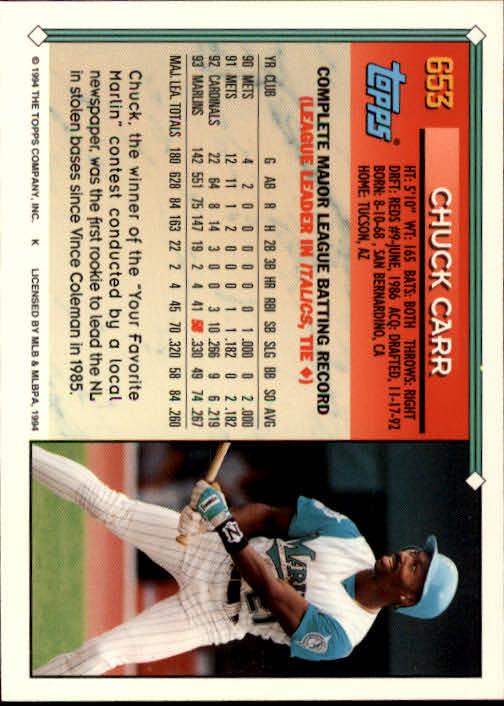 1994-Topps-Beisbol-Tarjeta-Recoger-461-792 miniatura 302
