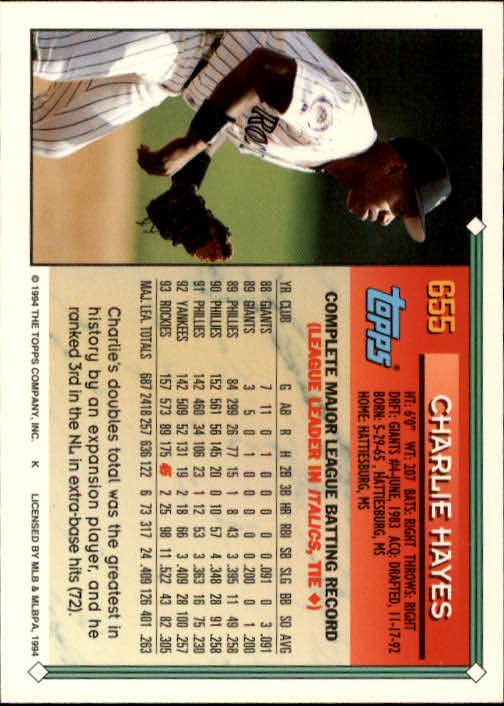 1994-Topps-Beisbol-Tarjeta-Recoger-461-792 miniatura 306