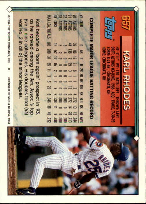 1994-Topps-Beisbol-Tarjeta-Recoger-461-792 miniatura 310