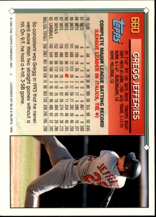 1994-Topps-Beisbol-Tarjeta-Recoger-461-792 miniatura 316