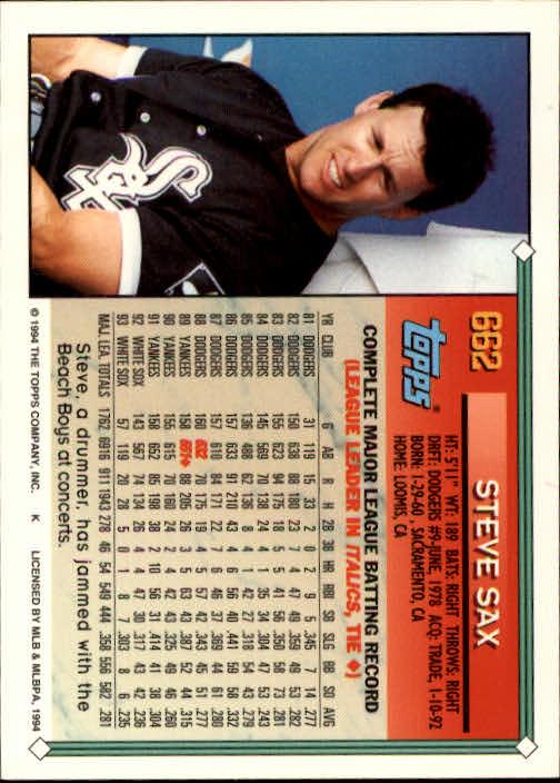 1994-Topps-Beisbol-Tarjeta-Recoger-461-792 miniatura 318