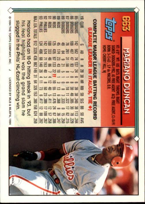 1994-Topps-Beisbol-Tarjeta-Recoger-461-792 miniatura 320