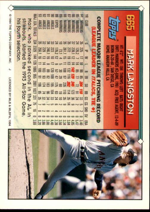 1994-Topps-Beisbol-Tarjeta-Recoger-461-792 miniatura 324