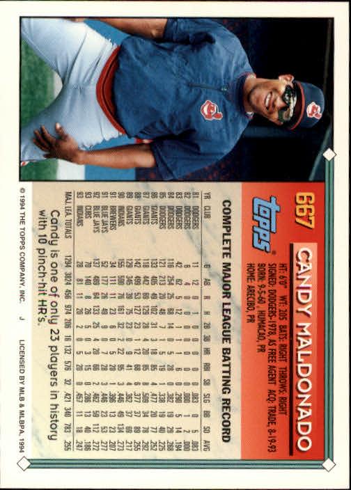 1994-Topps-Beisbol-Tarjeta-Recoger-461-792 miniatura 328