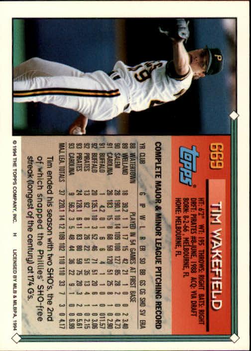 1994-Topps-Beisbol-Tarjeta-Recoger-461-792 miniatura 332