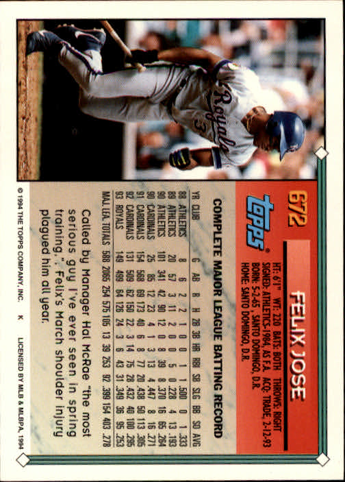 1994-Topps-Beisbol-Tarjeta-Recoger-461-792 miniatura 336