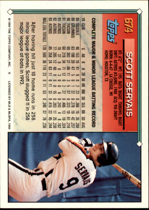 1994-Topps-Beisbol-Tarjeta-Recoger-461-792 miniatura 340