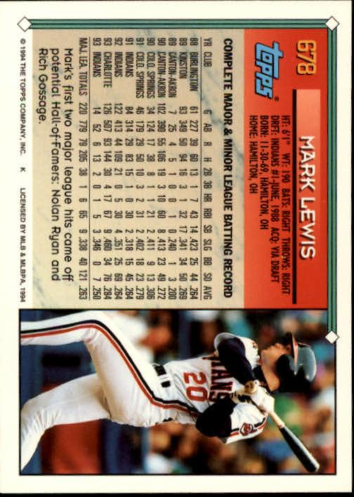 1994-Topps-Beisbol-Tarjeta-Recoger-461-792 miniatura 342