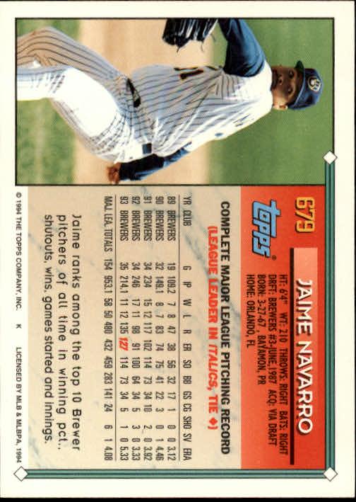 1994-Topps-Beisbol-Tarjeta-Recoger-461-792 miniatura 344