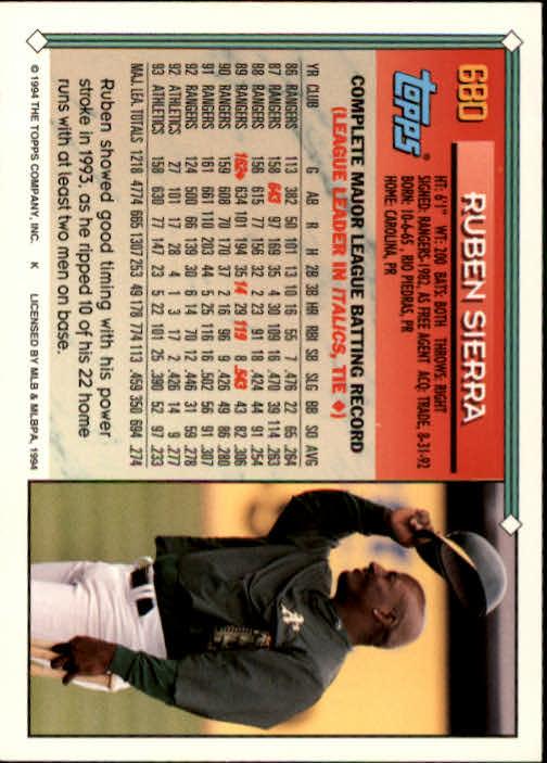 1994-Topps-Beisbol-Tarjeta-Recoger-461-792 miniatura 346