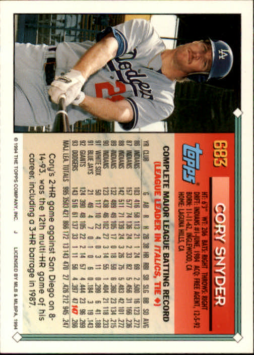 1994-Topps-Beisbol-Tarjeta-Recoger-461-792 miniatura 348