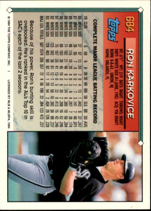 1994-Topps-Beisbol-Tarjeta-Recoger-461-792 miniatura 350