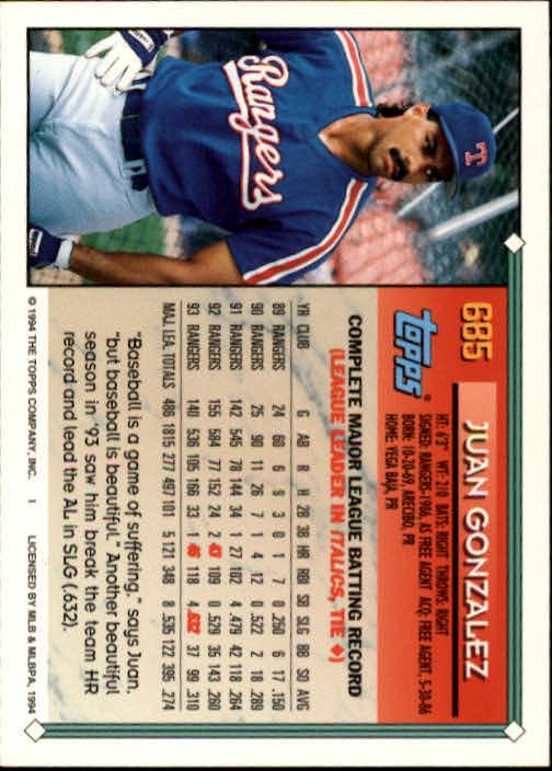 1994-Topps-Beisbol-Tarjeta-Recoger-461-792 miniatura 352
