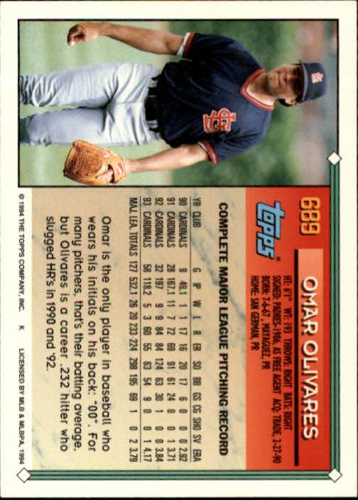 1994-Topps-Beisbol-Tarjeta-Recoger-461-792 miniatura 354