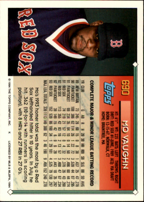 1994-Topps-Beisbol-Tarjeta-Recoger-461-792 miniatura 356