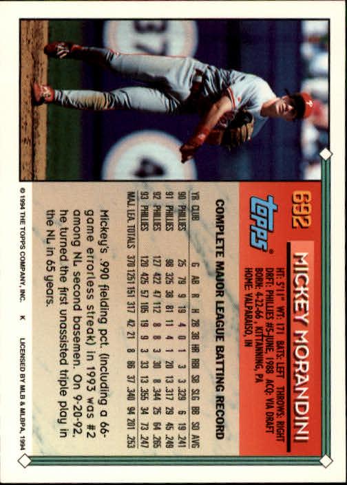 1994-Topps-Beisbol-Tarjeta-Recoger-461-792 miniatura 360