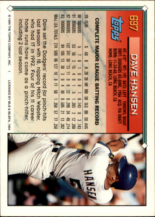 1994-Topps-Beisbol-Tarjeta-Recoger-461-792 miniatura 366