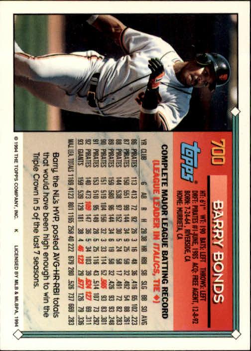 1994-Topps-Beisbol-Tarjeta-Recoger-461-792 miniatura 368