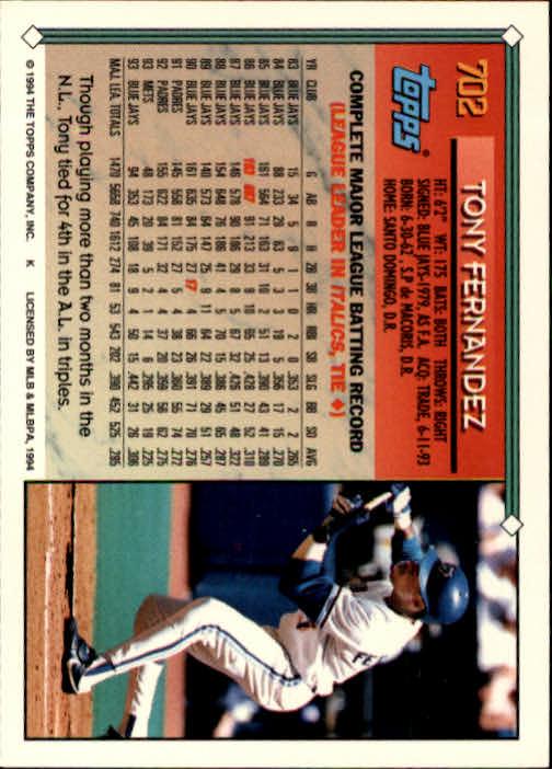 1994-Topps-Beisbol-Tarjeta-Recoger-461-792 miniatura 372