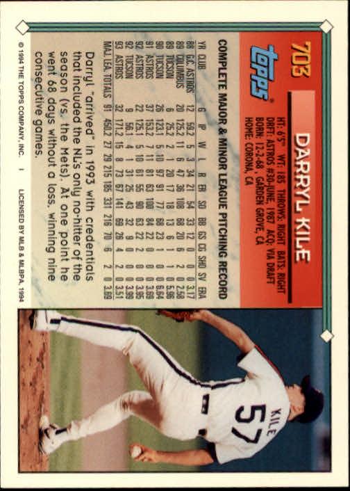 1994-Topps-Beisbol-Tarjeta-Recoger-461-792 miniatura 374