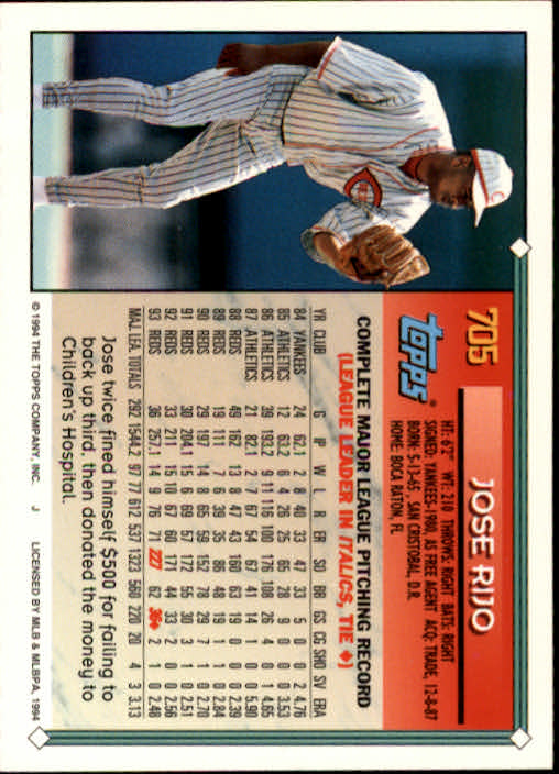 1994-Topps-Beisbol-Tarjeta-Recoger-461-792 miniatura 378