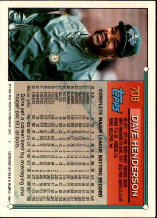1994-Topps-Beisbol-Tarjeta-Recoger-461-792 miniatura 382