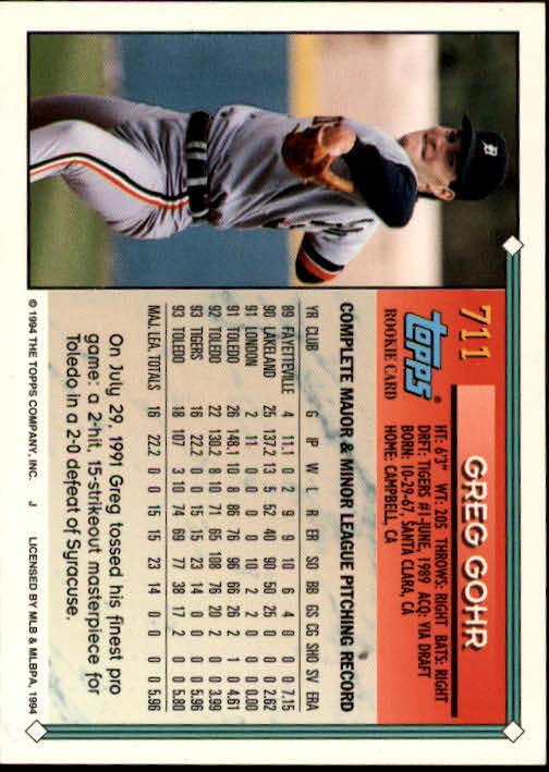 1994-Topps-Beisbol-Tarjeta-Recoger-461-792 miniatura 387