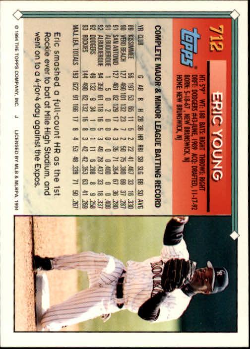 1994-Topps-Beisbol-Tarjeta-Recoger-461-792 miniatura 389