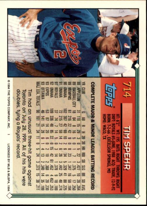 1994-Topps-Beisbol-Tarjeta-Recoger-461-792 miniatura 391