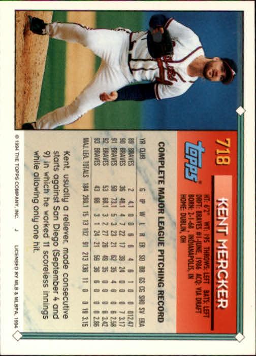 1994-Topps-Beisbol-Tarjeta-Recoger-461-792 miniatura 395
