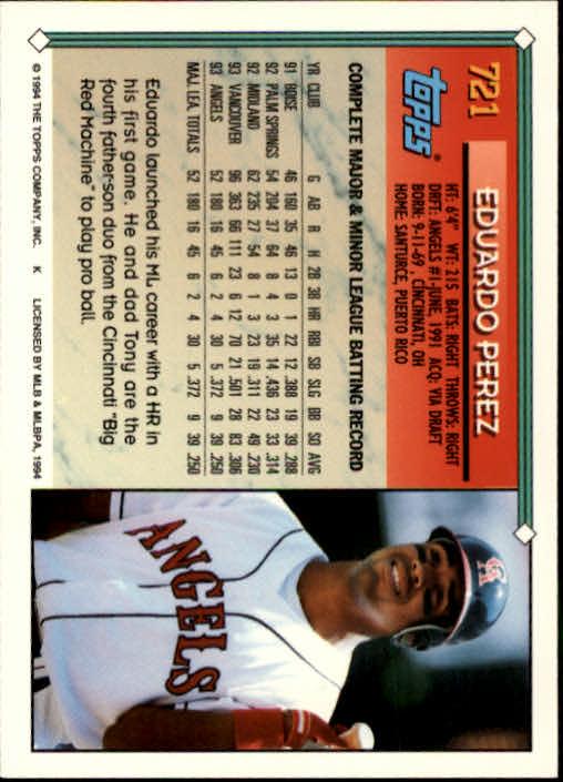 1994-Topps-Beisbol-Tarjeta-Recoger-461-792 miniatura 397